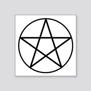"pentacle_wh Square Sticker 3"" x 3"""