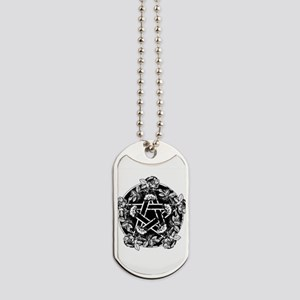 pentacle-rose_wh Dog Tags