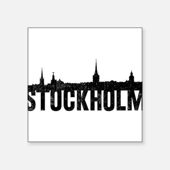 "Stockholm Square Sticker 3"" x 3"""