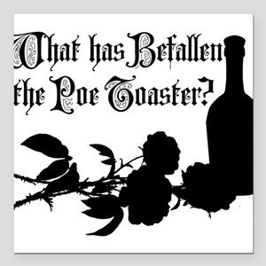 """poe-toaster-2010_wh Square Car Magnet 3"""" x 3"""""""
