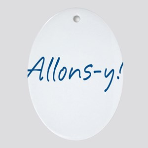 allons-y_tr Ornament (Oval)