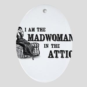 madwoman-attic_wh Ornament (Oval)