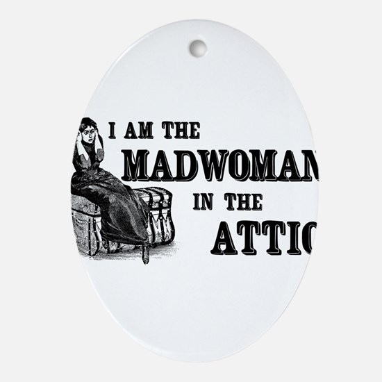madwoman-attic_wh.png Ornament (Oval)