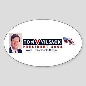 Vilsack '08 Oval Sticker