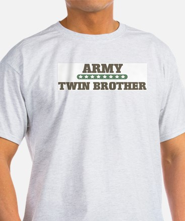 Army Stars Twin Brother Ash Grey T-Shirt