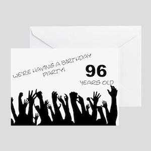 96th birthday party invitation Greeting Card