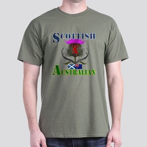 Scottish Australian Thistle Dark T-Shirt