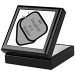 My Daughter is a Soldier dog tag Keepsake Box