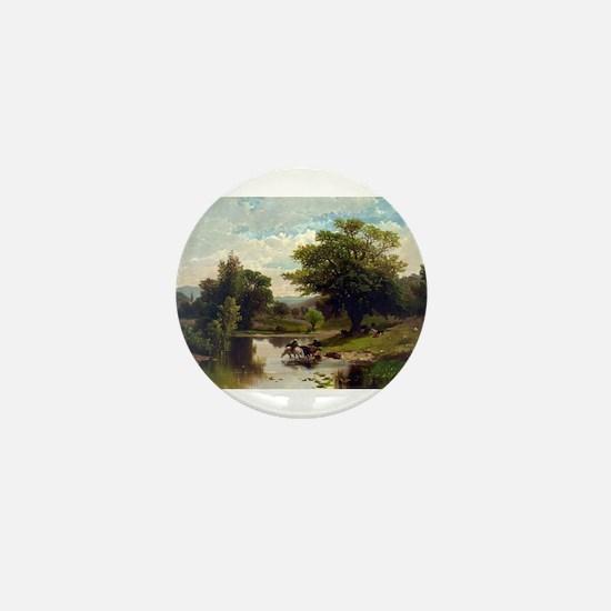 Summer landscape - 1869 Mini Button
