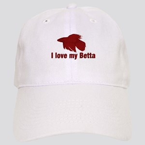 I Love My Betta Cap