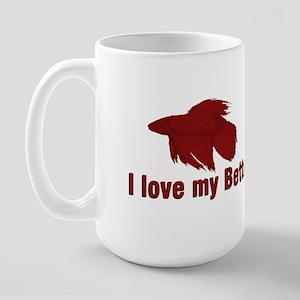 I Love My Betta Large Mug