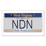 West Virginia NDN Pride Rectangle Sticker