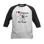 Jaime les animaux - Go Vegan Baseball Jersey