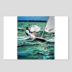 Laser Sailboat Postcards (Package of 8)