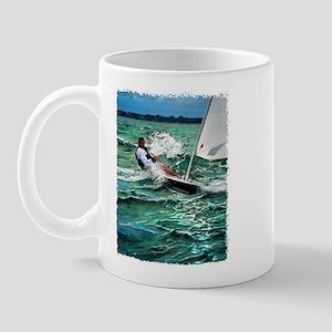 Laser Sailboat Mug