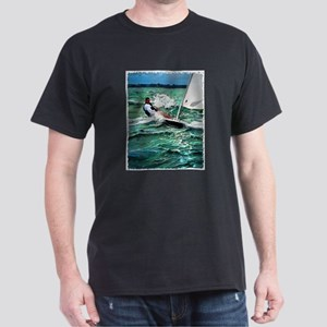 Laser Sailboat Dark T-Shirt