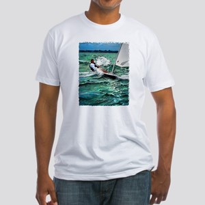 Laser Sailboat Fitted T-Shirt