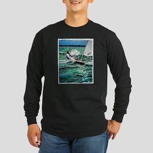 Laser Sailboat Long Sleeve Dark T-Shirt