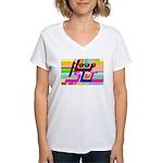 HoopSlut Women's V-Neck T-Shirt