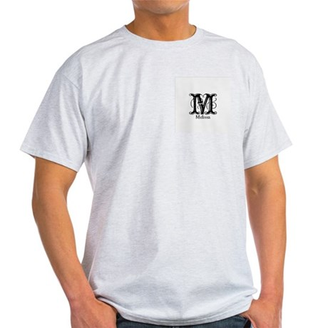 Melissa: Fancy Monogram Ash Grey T-Shirt