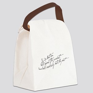 So We Beat On Black Canvas Lunch Bag