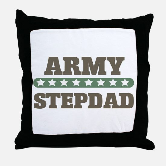 Army Stars Stepdad Throw Pillow