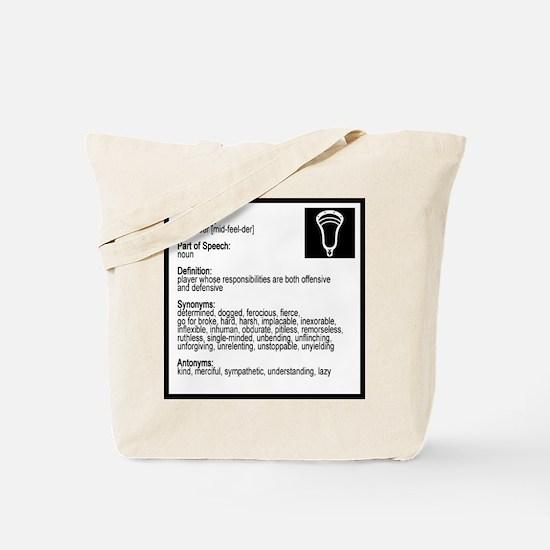 Lacrosse Midde Definition Tote Bag