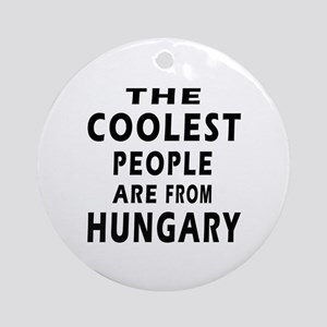 The Coolest Hungary Designs Ornament (Round)