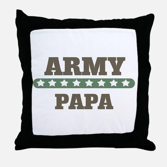 Army Stars Papa Throw Pillow
