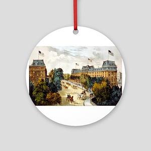 Saratoga Springs - 1907 Round Ornament