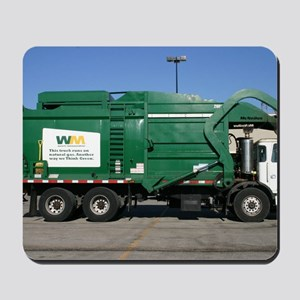 garbage truck love Mousepad