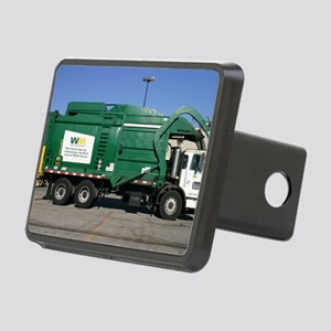 garbage truck love Rectangular Hitch Cover