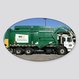 garbage truck love Sticker (Oval)