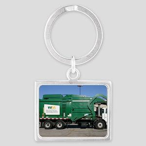 garbage truck love Landscape Keychain