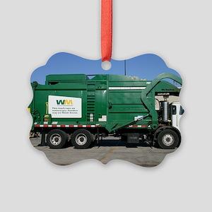 garbage truck love Picture Ornament