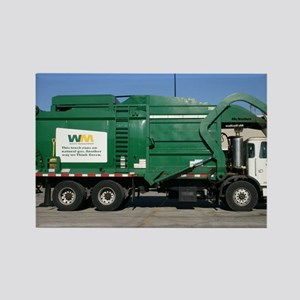 garbage truck love Rectangle Magnet