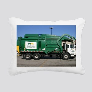 garbage truck love Rectangular Canvas Pillow
