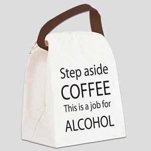 Step Aside Coffee Black Canvas Lunch Bag