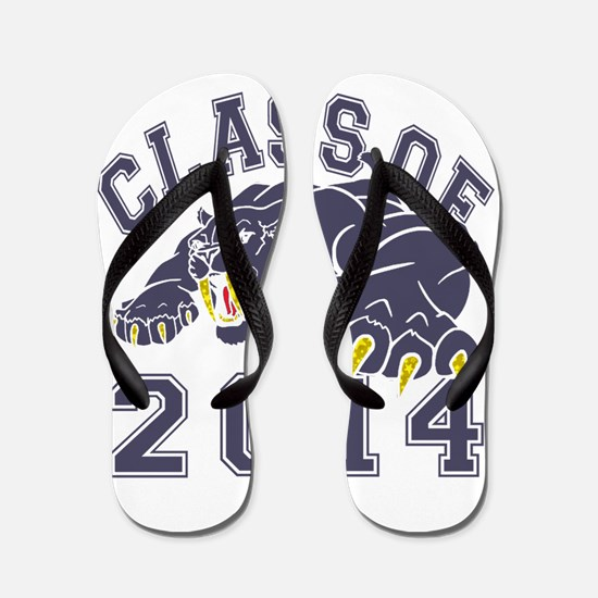 Class Of 2014 Saber-Tooth Tiger Flip Flops
