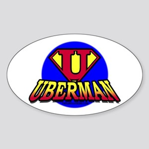 UberMan Oval Sticker