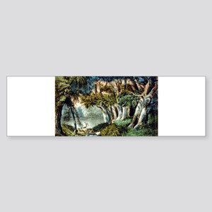 The lake in the woods - 1907 Sticker (Bumper)