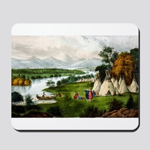 Scenery of the upper Mississippi - an Indian villa