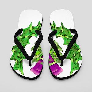 Heraldic Thistle Flip Flops