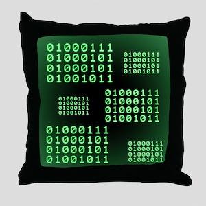 Binary code for GEEK Throw Pillow