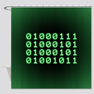 Binary code for GEEK Shower Curtain