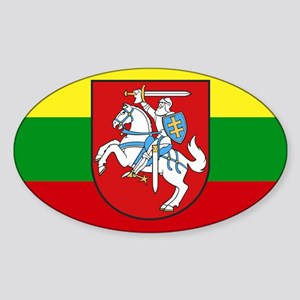 Lithuania w/ coat of arms Rectangle Sticker