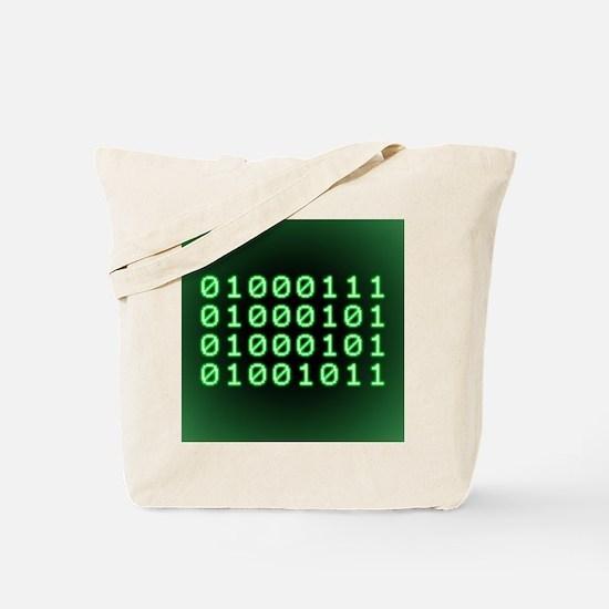 Binary code for GEEK Tote Bag