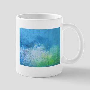 Abstract Blue and Green Landscape Mug