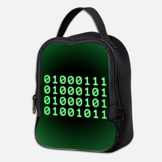 Binary code for GEEK Neoprene Lunch Bag