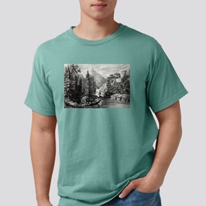 The mountain pass, Sierra Nevada - 1867 Mens Comfo